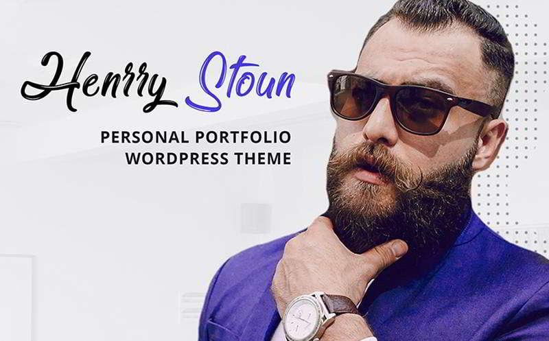 Henry Stoun - Тема WP для персонального сайта