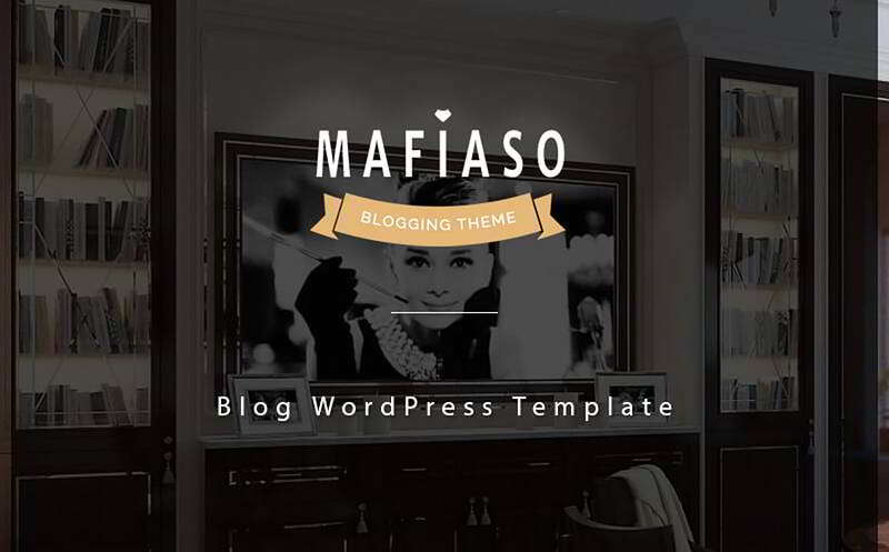 Mafiaso - Блог тема WordPress