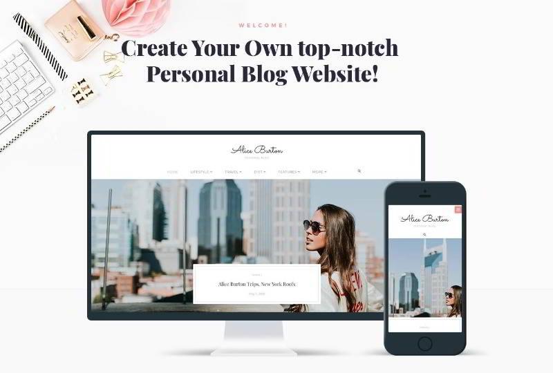 AliceBurton - WordPress шаблон личного блога
