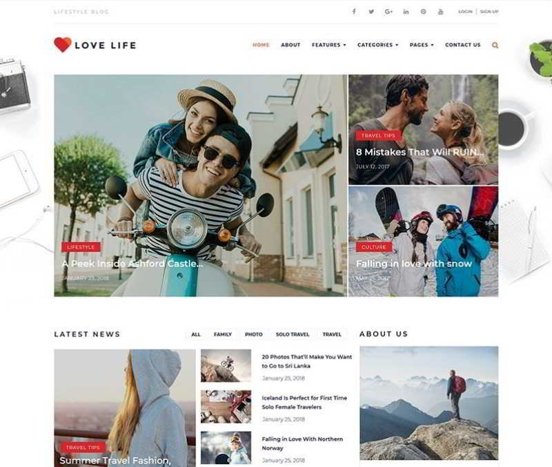 Love Life - Адаптивная тема WordPress