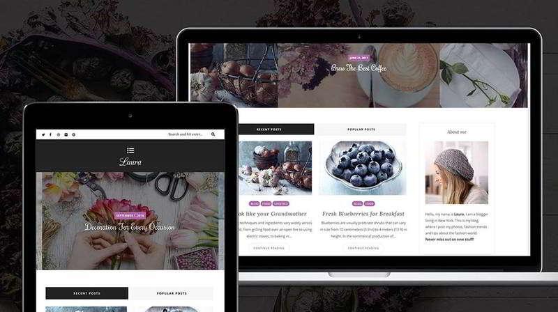 Laura — Адаптивный шаблон женских сайтов